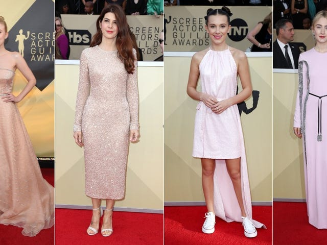 Millennial Pink's Not Dead On the SAG Awards Red Carpet