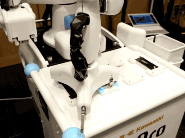Robot Jepang Terbaik di Puting On iPhone Screen Protectors
