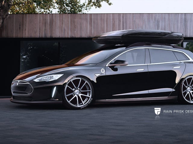 I found a cool rendering of a Model S wagon (Model W?)