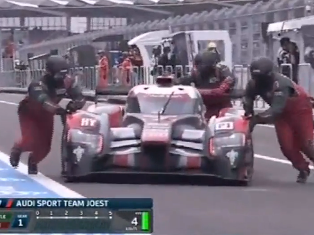 Watch An Audi R18 Run Out Of Fuel At Just The Right Time