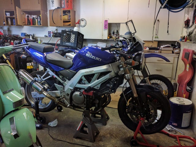 I think I'm done with the SV650
