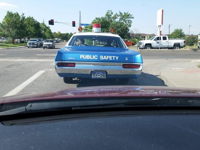 Vintage cop cars abound