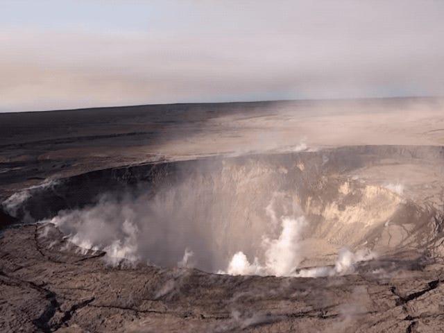 El cráter del volcán Kilauea har haft en radikal radikale træk
