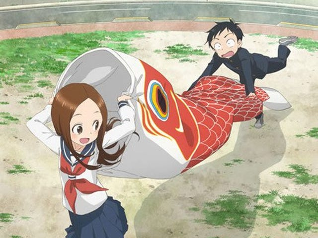 Here it is the new visual of the second season of Teasing Master Takagi-San