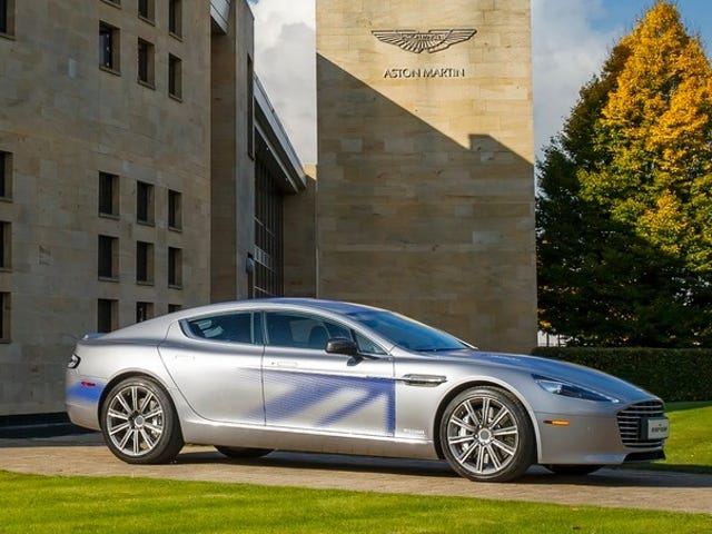 James Bond Is Reportedly Driving the Electric Aston Martin Rapide and We Just Have to Accept It