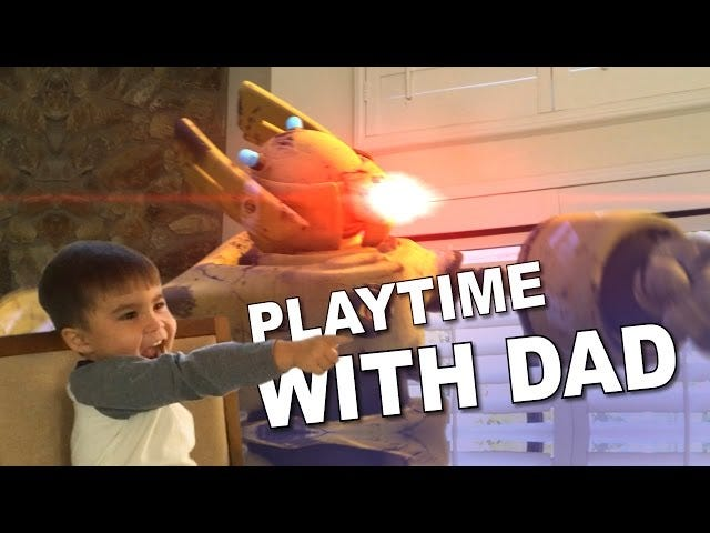 Watch a Dad's Special Effects Turn Playtime Into Crazy Action Scenes