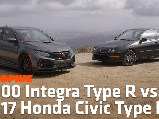 Découvrez comment le 2017 Honda Civic Type R se compare à l'Acura Integra Type R