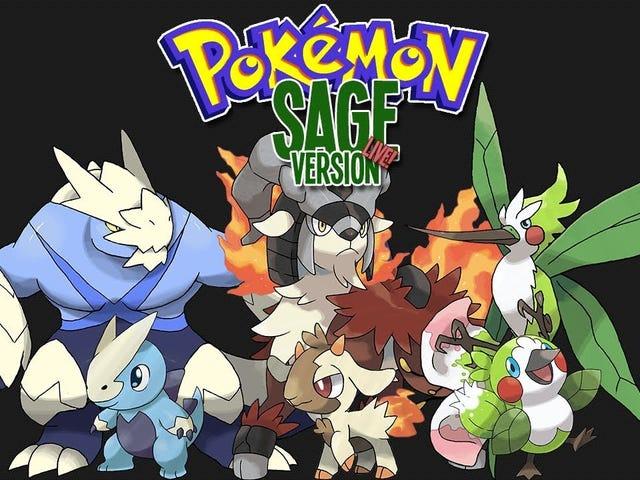 Pokemon Sage demo featuring 117/229 original mon