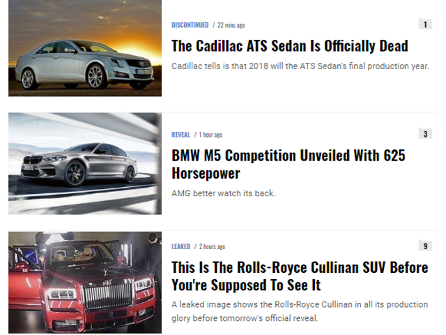Good Morning Oppo. Here's your news-brief on the auto industry summarized in one picture