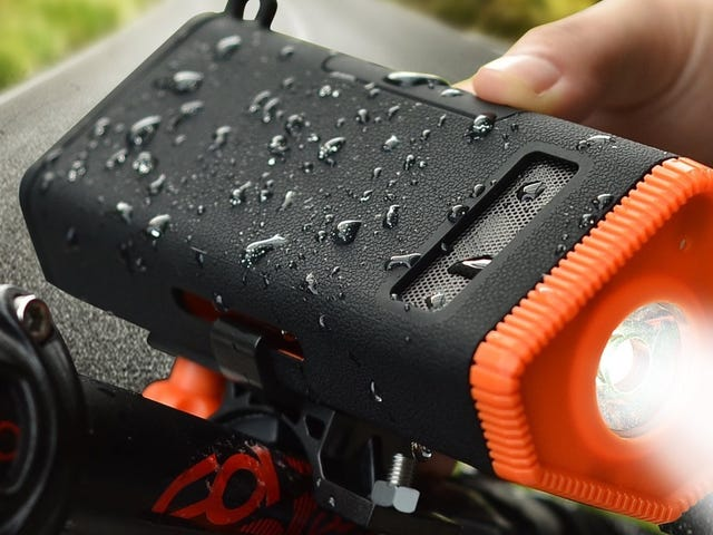 This $14 Gadget Is a Bike Light, Bluetooth Speaker, and Battery Pack All In One