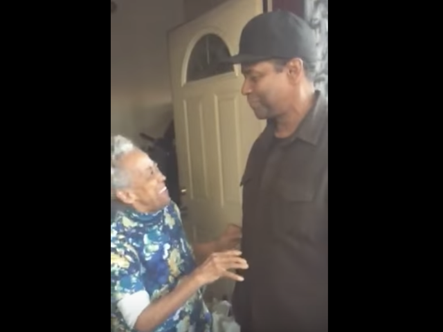 This South Side Great-Grandmother Meeting Denzel Washington Is the Best Thing Ever