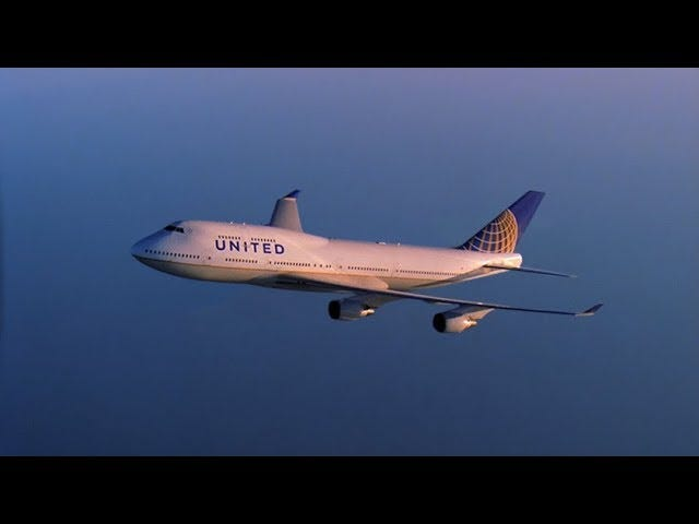 United's farewell to the 747