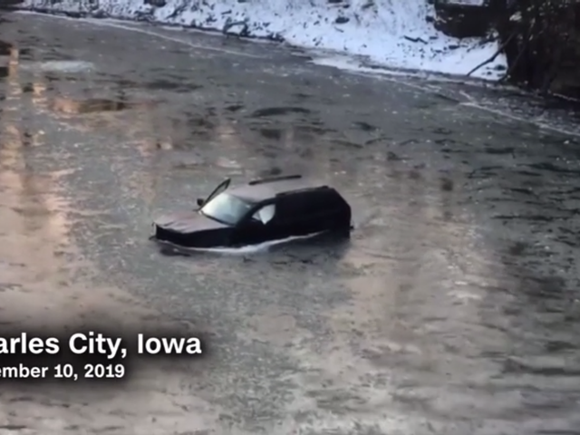 Man Trapped in Car in Icy River Saved By Yelling, 'Siri, Call 911'