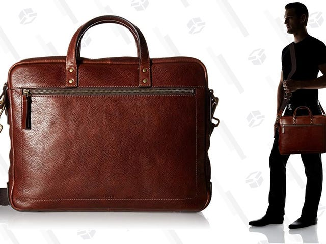 Save $70 On This Leather Fossil Workbag
