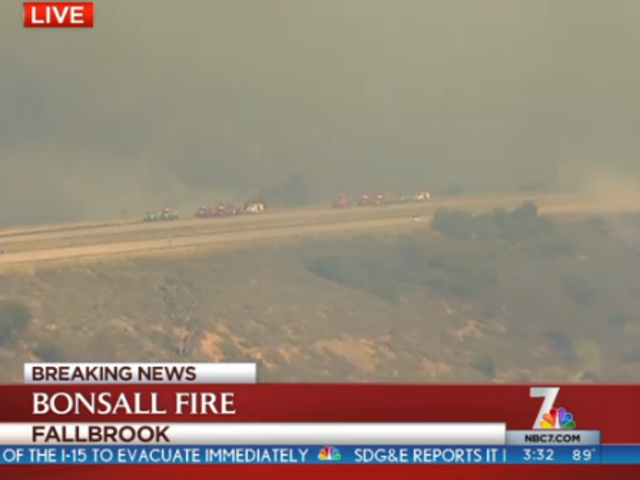 Apparently 10 Lanes of Freeway is still not a good firebreak