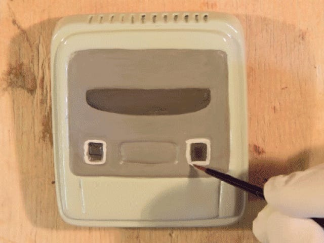 Watch Dude Hand Carve a Very, Very, Very Small, Working Super Nintendo