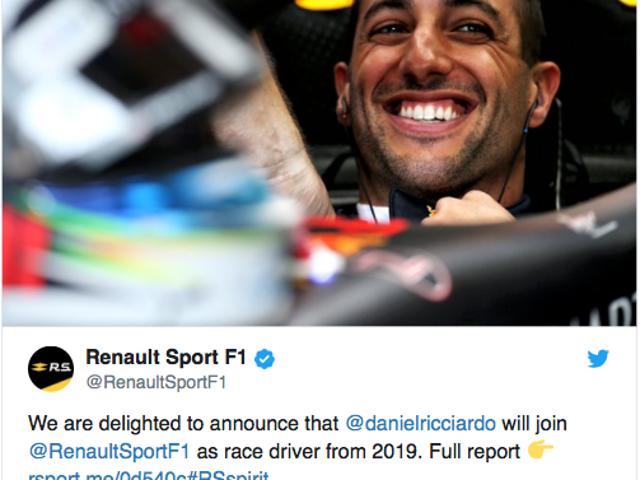 Riccardo leaving Red Bull for Renault