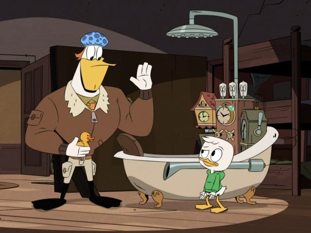 Time-travel shenanigans allow DuckTales to shine in its chaotic element