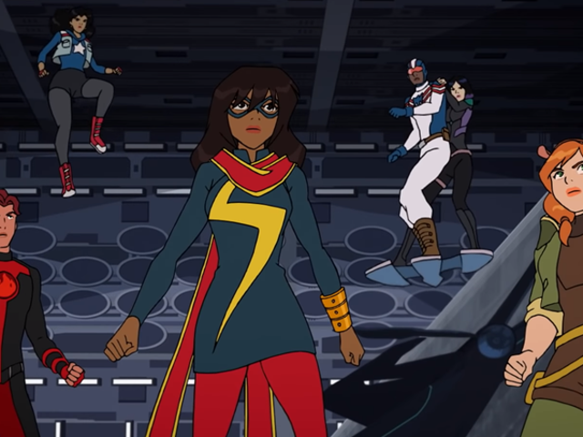 Marvel Rising's Adorable Heroes Take Inspiration From Captain Marvel in a New Trailer