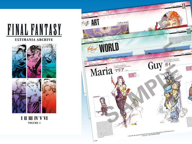 A Peek Inside Final Fantasy's Ultimania Art Book, Now In English