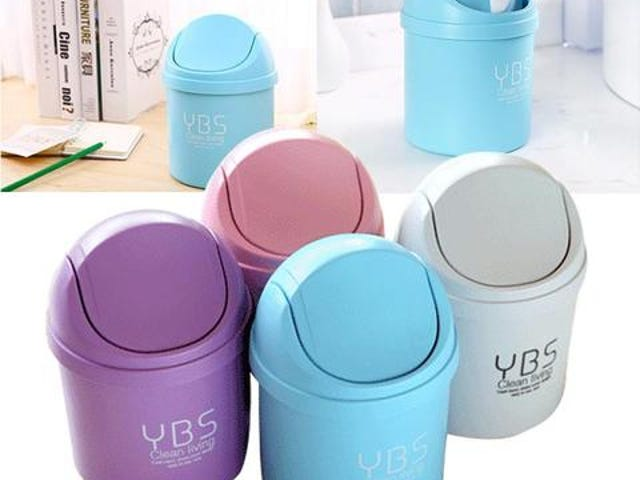 Mini Waste Bin Desktop Garbage Basket