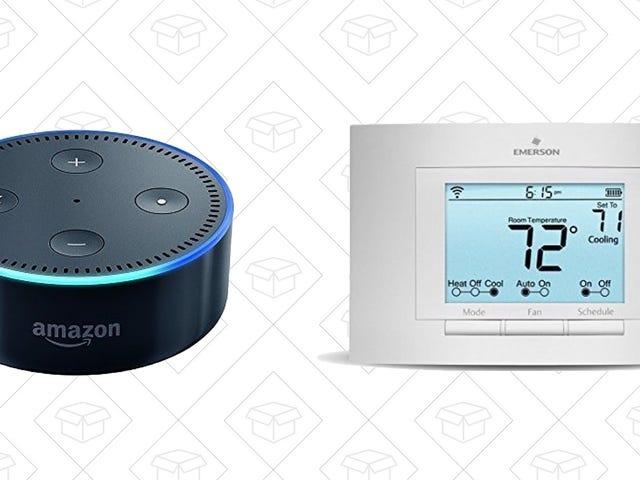 升级到108美元的智能温控器,加上一个免费的回声点