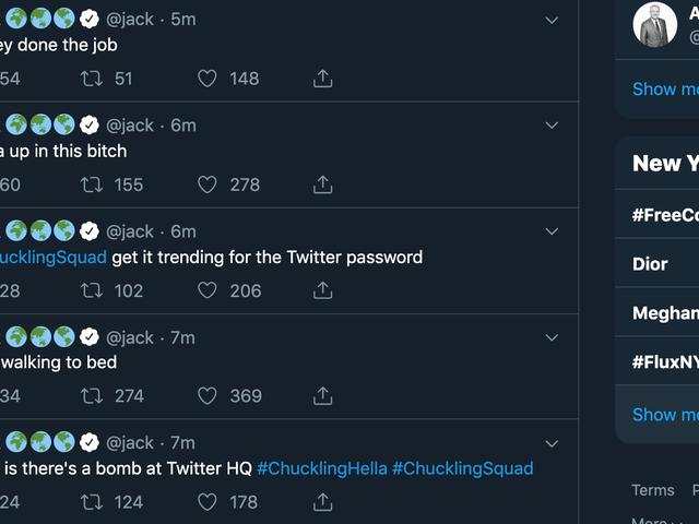 Họ hack tài khoản Twitter của Jack Dorsey, người sáng lập và giám đốc của Twitter