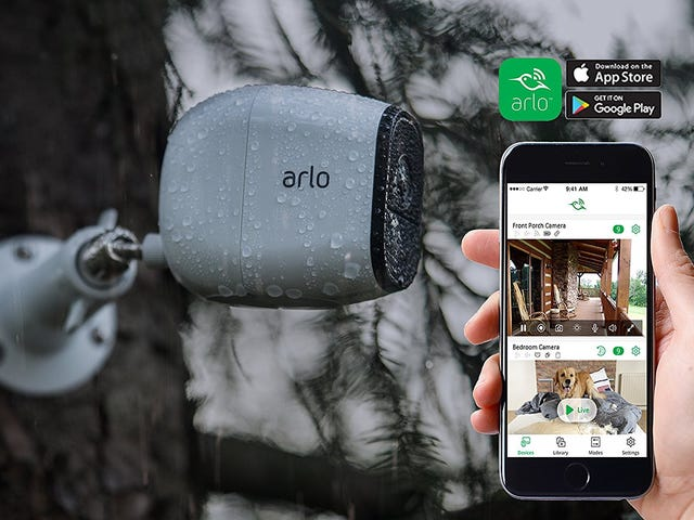 Monitor Your Home With a Discounted Two-Pack of Arlo Security Cameras