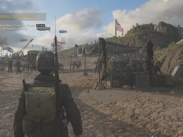 Call Of Duty: WWII's New Social Space Is Pretty Lonely At The Moment