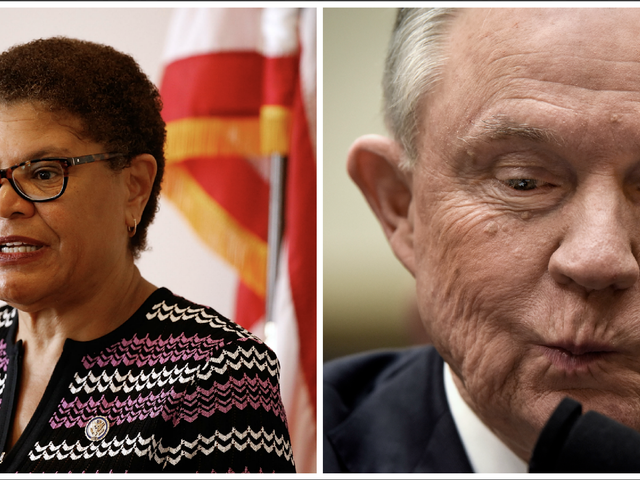 Rep. Karen Bass Ate Jeff Sessions for Lunch and It Was Delicious