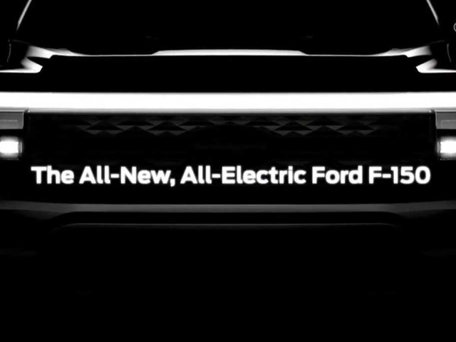 Ford Teases Front End Of The Upcoming 2023 Electric F-150