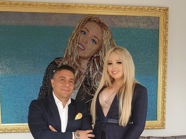 Meet Mr. Bling Colombia, the Artist Behind This Massive Swarovski Crystal Portrait of Tiffany Trump