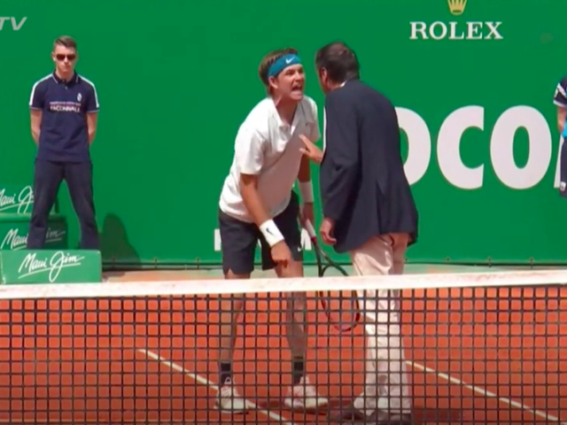 Tennis Player Screams In Chair Umpire's Face During Overgrown Tantrum