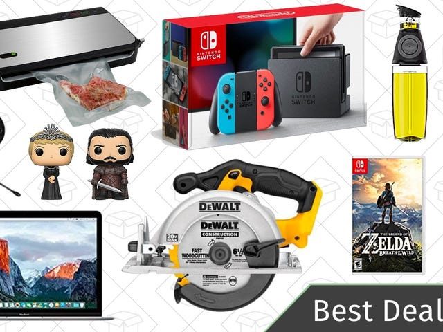 Wednesday's Best Deals: Discounted Nintendo Switch, DEWALT Tools, MacBooks, and More