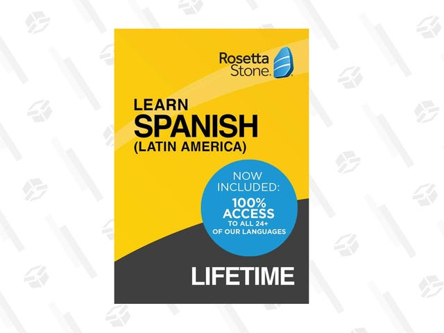 Learn Spanish With a Lifetime Rosetta Stone License, Now $40 Off