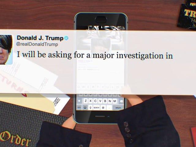 De tweets van Donald Trump veranderden in emo van smeulende mensen