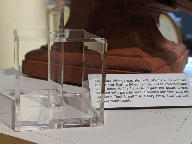 How Henry Ford Got a Hold of Thomas Edison's Last Breath