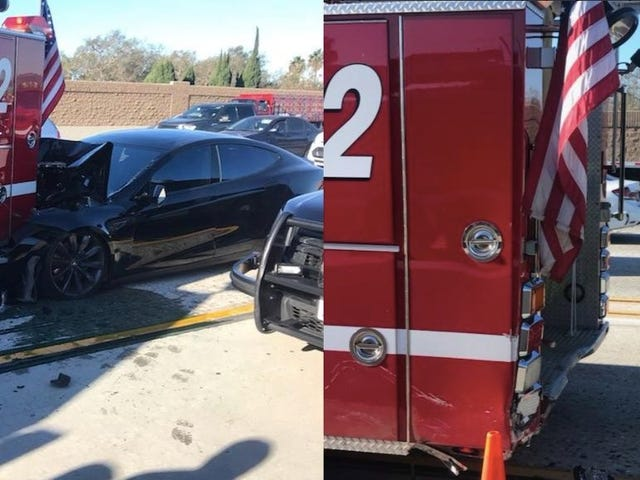 Tesla Driver Who Slammed Into Parked Firetruck On California Freeway Says Car Was On Autopilot (UPDATED)