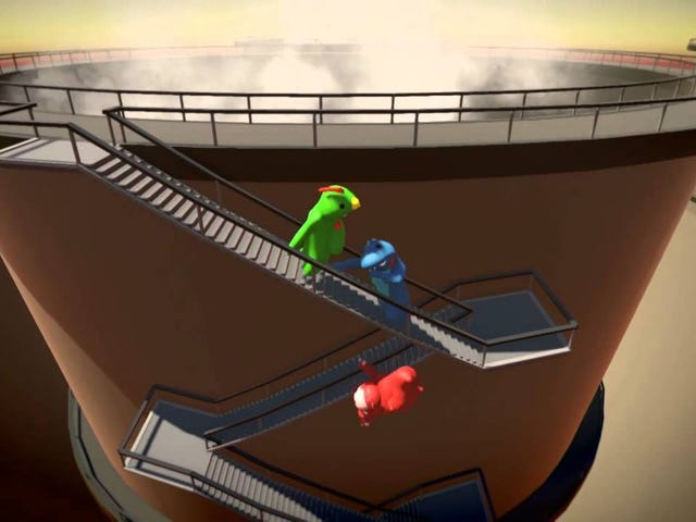 Gang Beasts, the slapstick fighting game I once watched take over an entire festival, is out of Early Access. In it, you and …