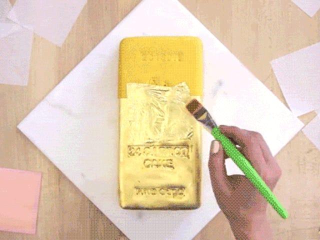 この24人参ゴールドケーキを作るのは純粋な錬金術です