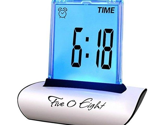 FIVE 0 EIGHT Digital Alarm Clock for $3.55 on Amazon