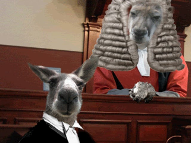 The bum rush to the (soon to be) kangaroo court.