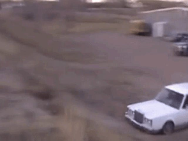 Lincoln Town Car Becomes Town Plane That Soars Over Two Beaters
