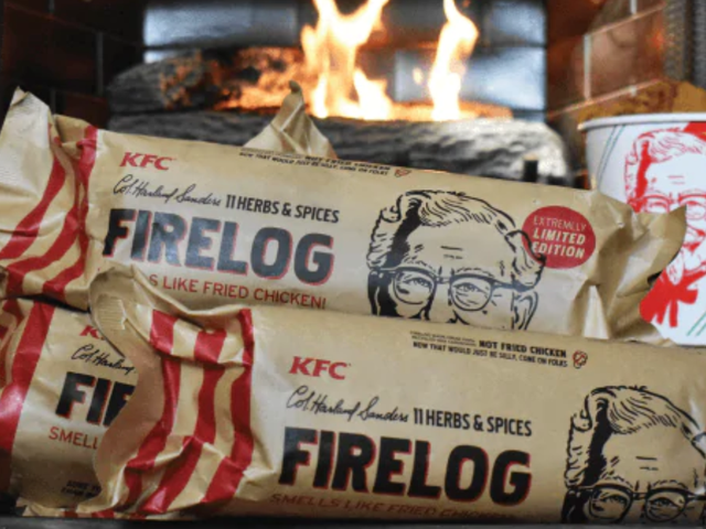 Fuck Candles, Get Yourself An 11 Herbs & Spices Fire Log From KFC