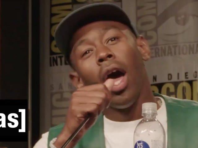 Тайлер, Творца вызывает нехватку черных персонажей мультфильмов на телевидении во время комиксов. Q & A: «У нас нет дерьма»