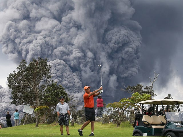 Kilauea Spews Ash, Golf Continues