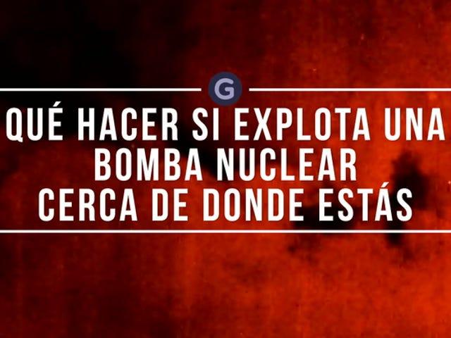 Dónde esconderte (y qué hacer) si esplica una bomba nucleare cerca de donde vives