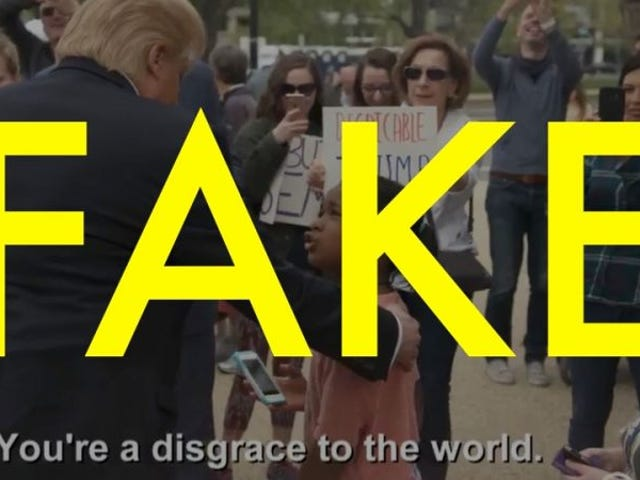 """ไม่, este vídeo de una niña llamando และ Donald Trump"""" desgracia para el mundo"""" เป็นยอดรวมทั้งหมด"""