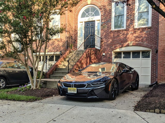 One of my neighbors might've gotten a BMW i8 Roadster