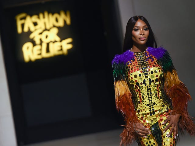 London Calling: Naomi Campbell Struts Into London Fashion Week With Fashion For Relief